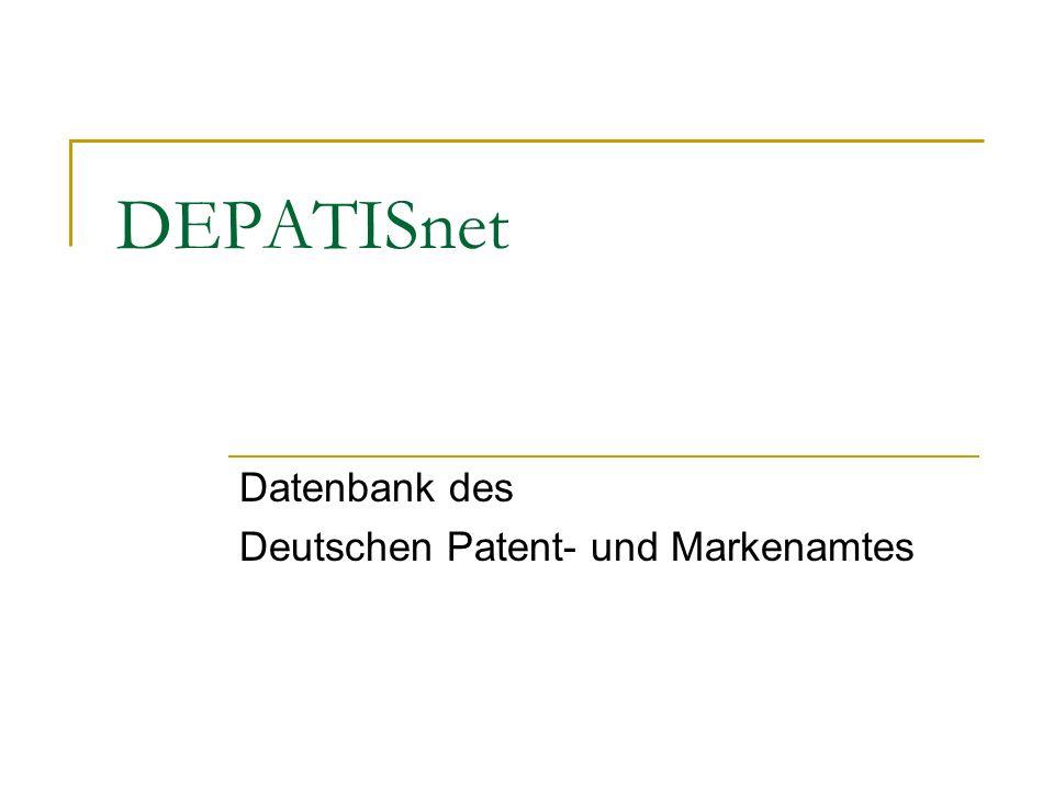 Datenbank des Deutschen Patent- und Markenamtes