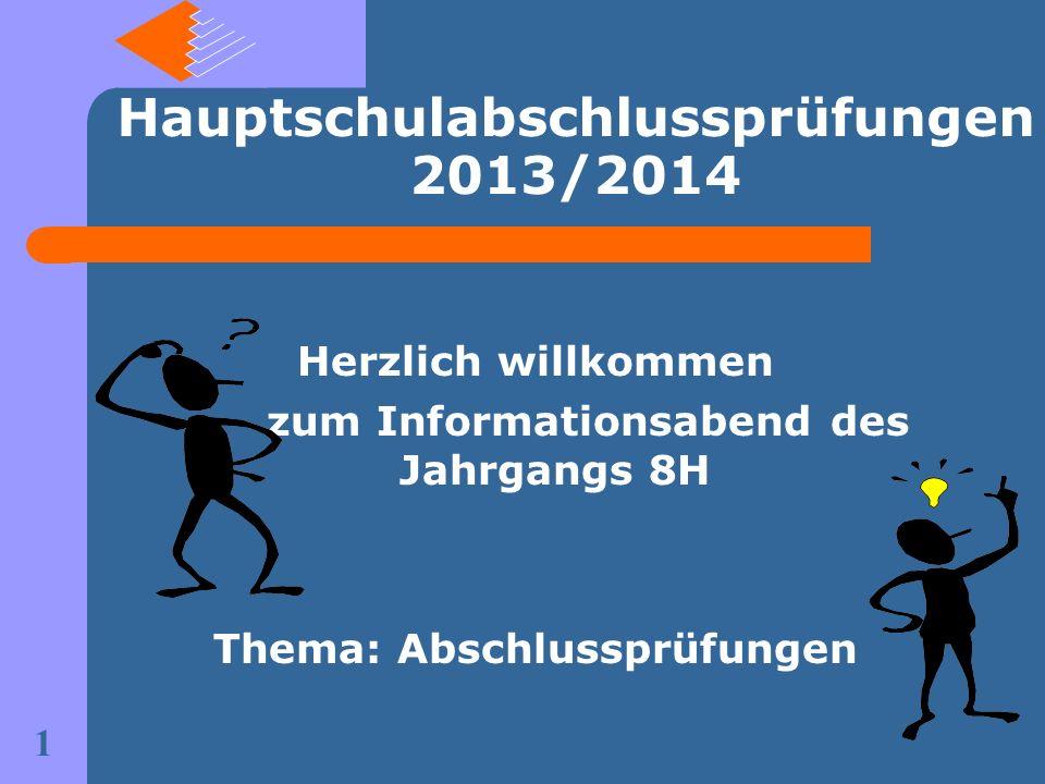 Hauptschulabschlussprüfungen 2013/2014
