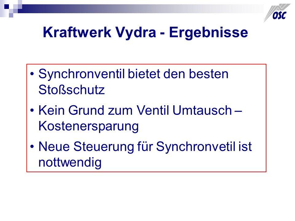 Kraftwerk Vydra - Ergebnisse