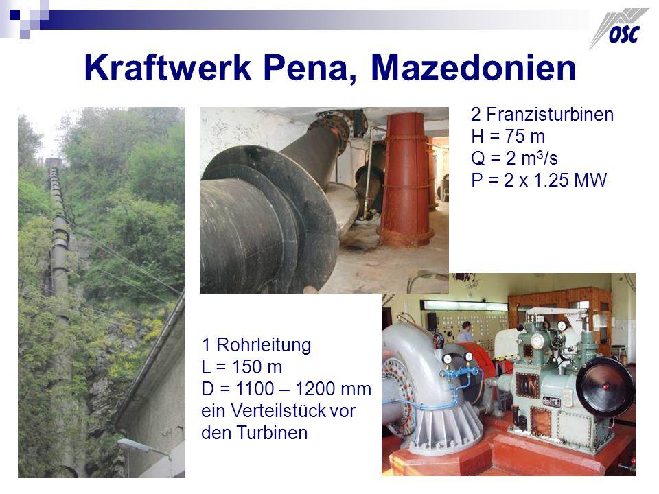 Kraftwerk Pena, Mazedonien