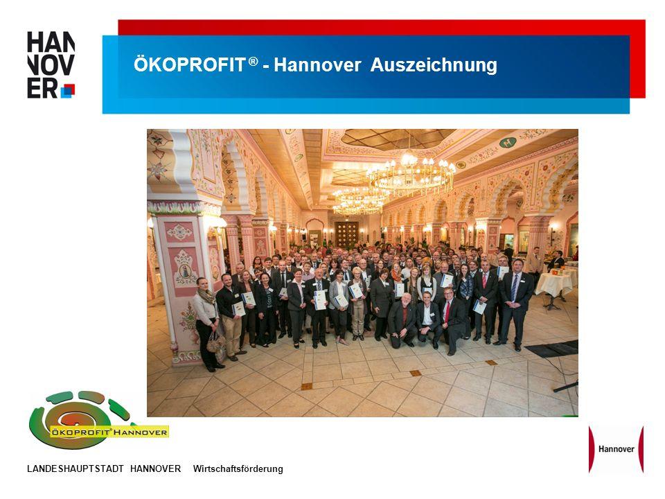 ÖKOPROFIT ® - Hannover Auszeichnung
