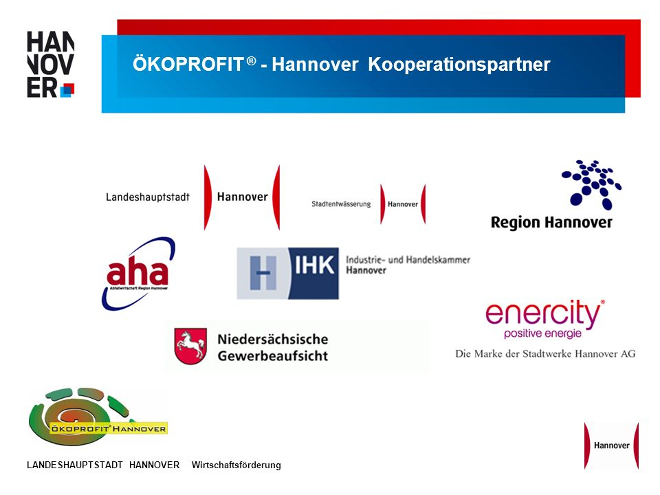 ÖKOPROFIT ® - Hannover Kooperationspartner