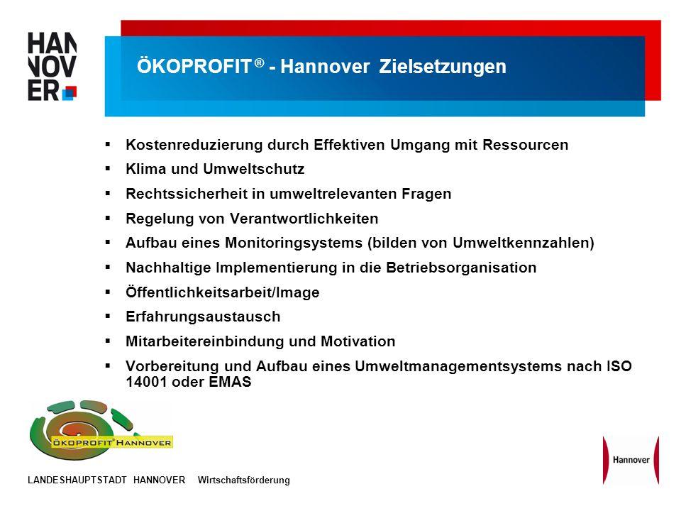 ÖKOPROFIT ® - Hannover Zielsetzungen