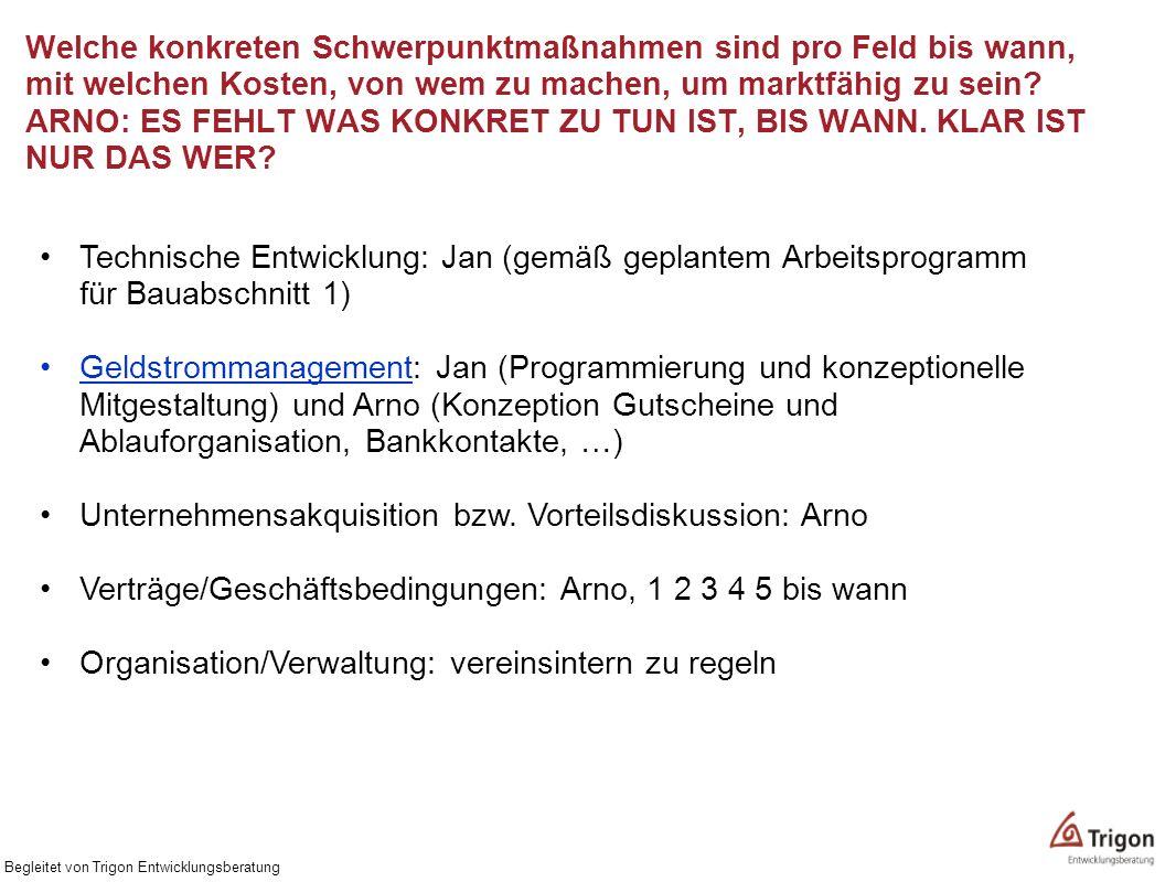 Unternehmensakquisition bzw. Vorteilsdiskussion: Arno