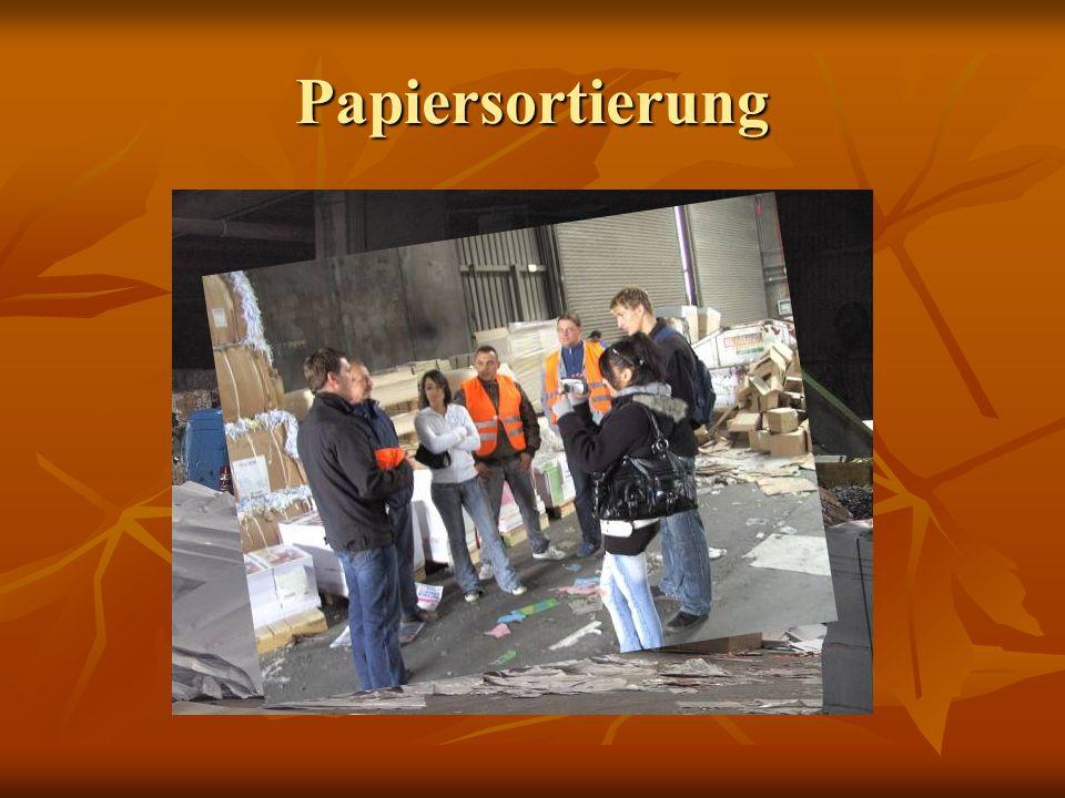 Papiersortierung