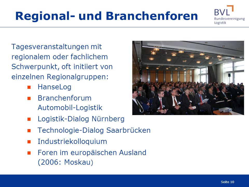 Regional- und Branchenforen