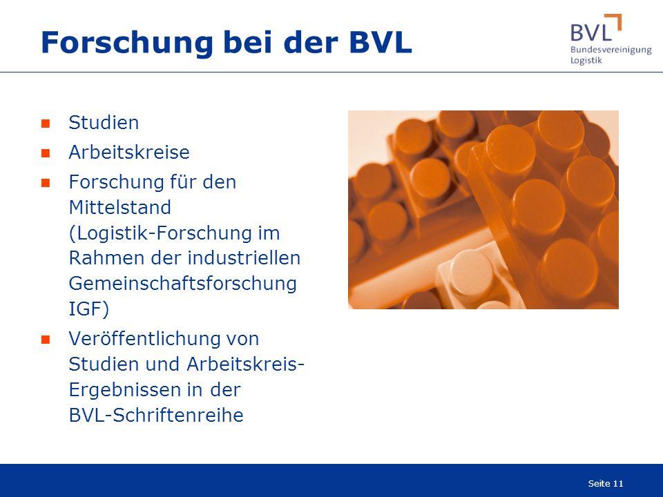 Forschung bei der BVL Studien Arbeitskreise