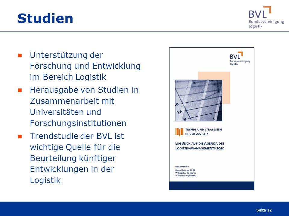 Studien Unterstützung der Forschung und Entwicklung im Bereich Logistik.