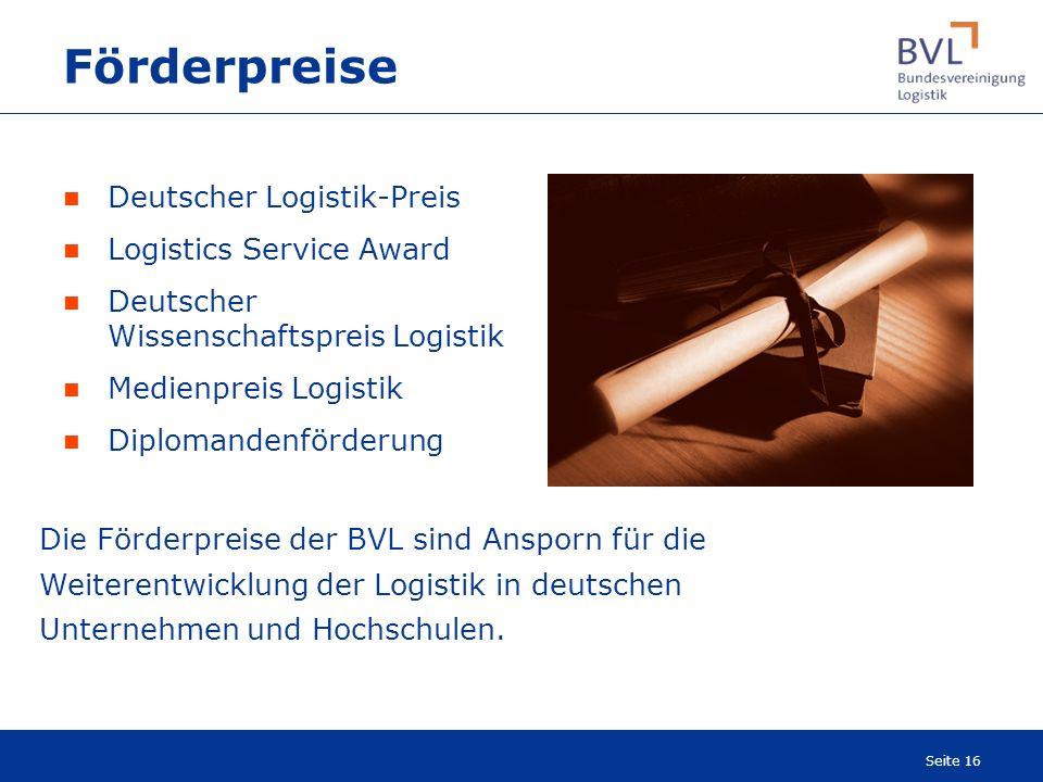 Förderpreise Deutscher Logistik-Preis Logistics Service Award