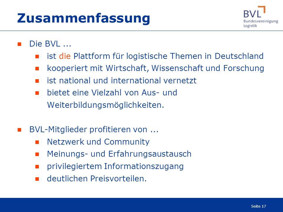 Zusammenfassung Die BVL ...