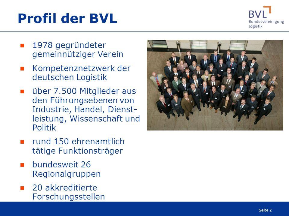 Profil der BVL 1978 gegründeter gemeinnütziger Verein