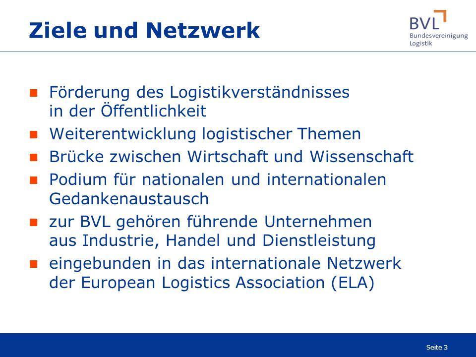 Ziele und Netzwerk Förderung des Logistikverständnisses in der Öffentlichkeit. Weiterentwicklung logistischer Themen.
