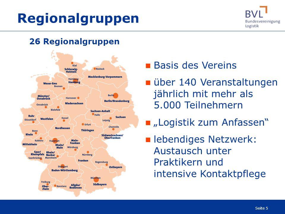 Regionalgruppen Basis des Vereins