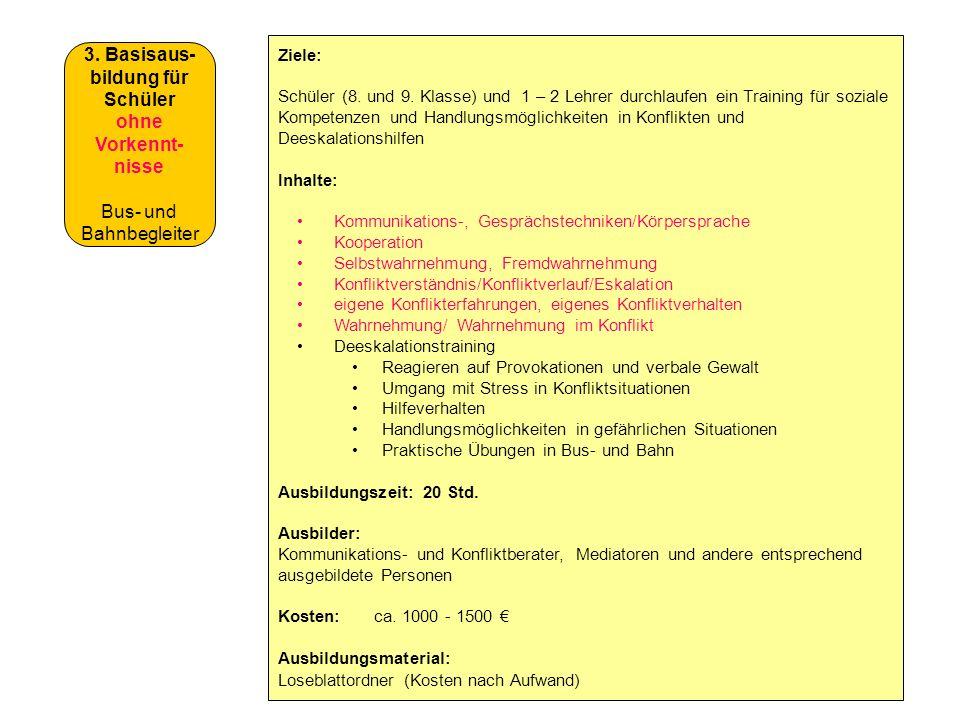 3. Basisaus-bildung für Schüler ohne Vorkennt-nisse