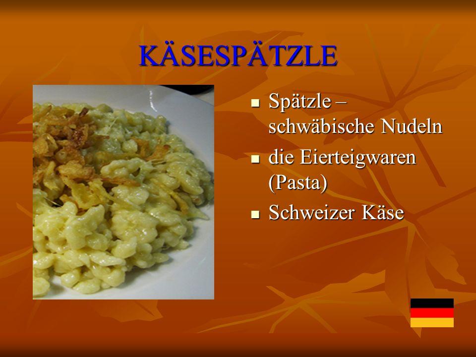 KÄSESPÄTZLE Spätzle – schwäbische Nudeln die Eierteigwaren (Pasta)