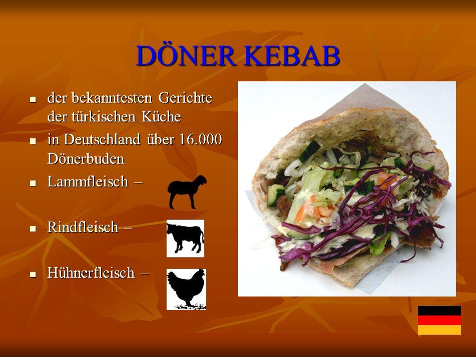 DÖNER KEBAB der bekanntesten Gerichte der türkischen Küche