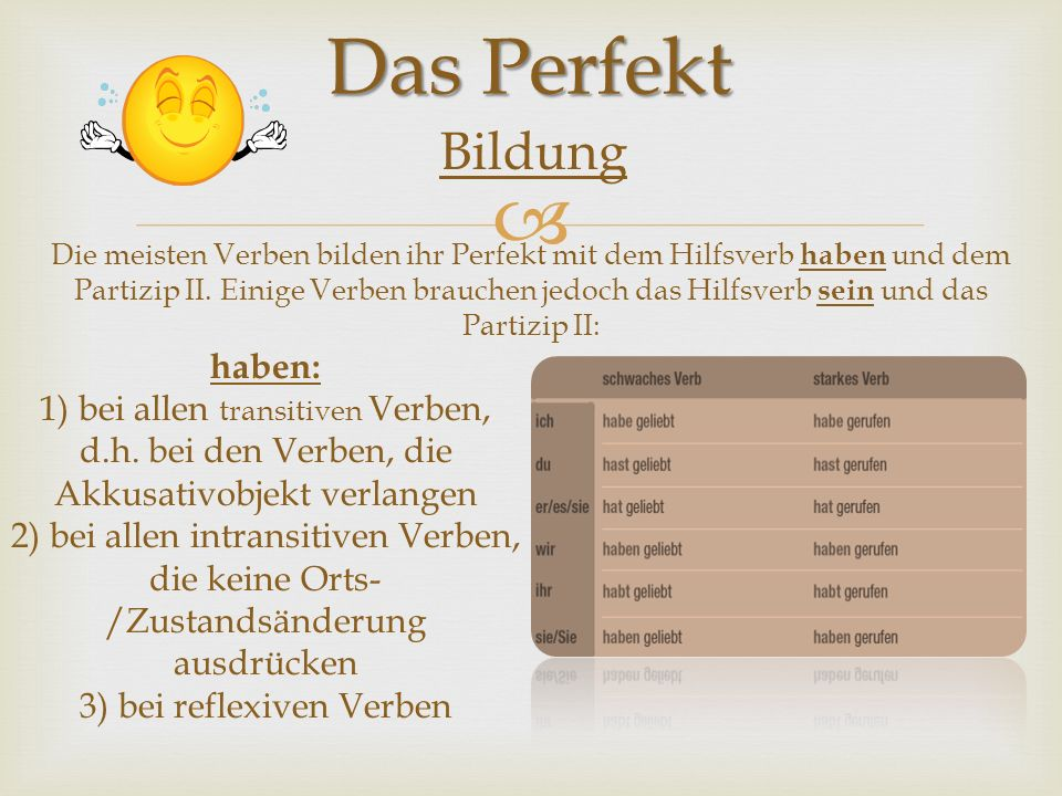 3) bei reflexiven Verben
