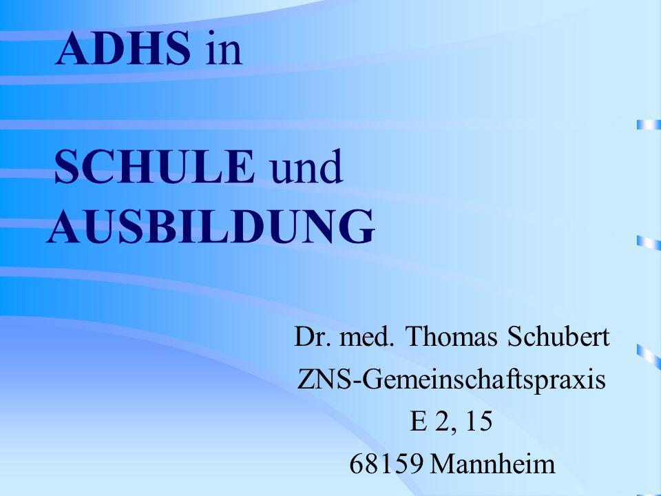 ADHS in SCHULE und AUSBILDUNG