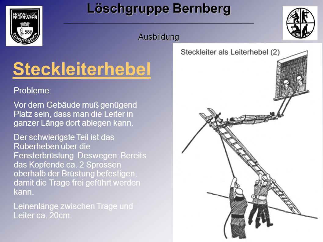Löschgruppe Bernberg Ausbildung