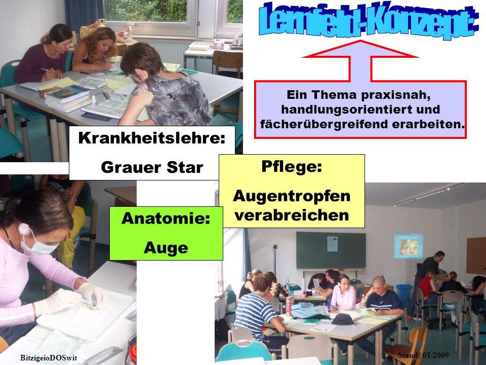 Lernfeld-Konzept: Krankheitslehre: Grauer Star Pflege: