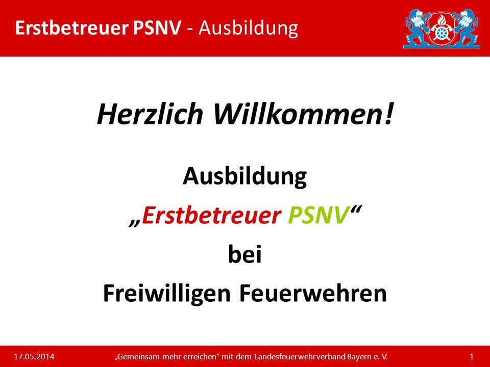 Erstbetreuer PSNV - Ausbildung