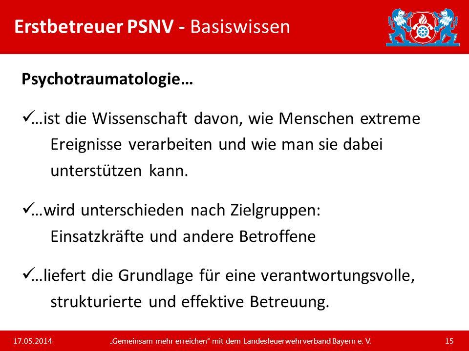 Erstbetreuer PSNV - Basiswissen