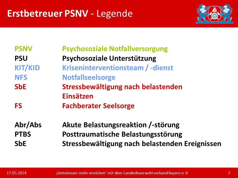 Erstbetreuer PSNV - Legende
