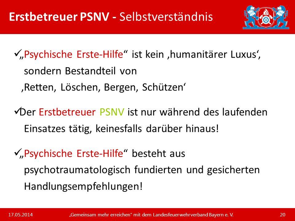 Erstbetreuer PSNV - Selbstverständnis