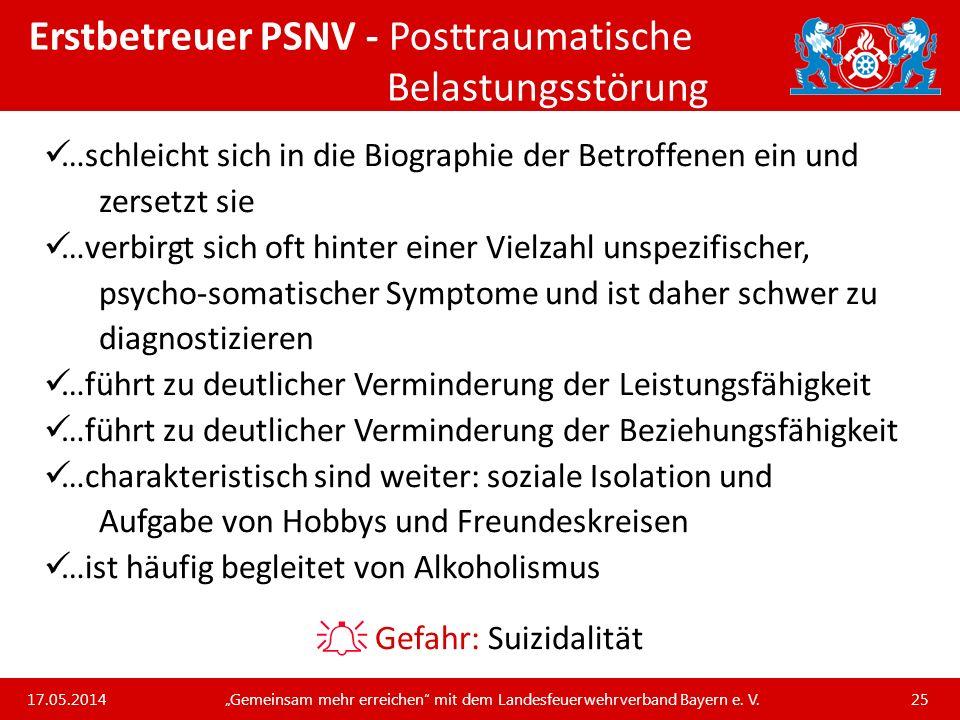 Erstbetreuer PSNV - Posttraumatische Belastungsstörung