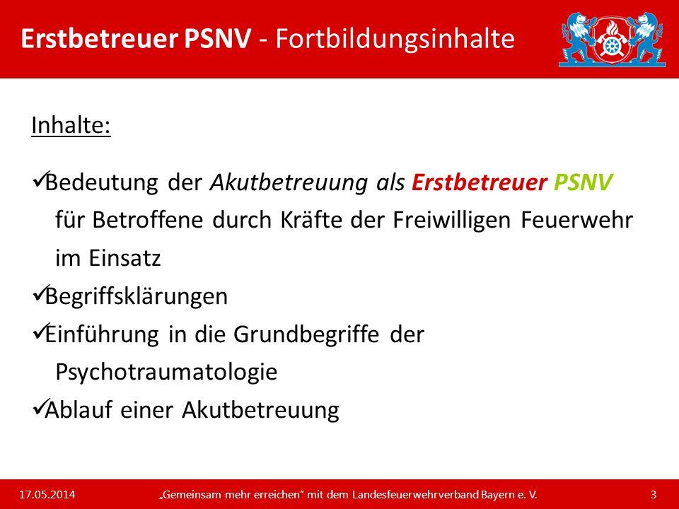 Erstbetreuer PSNV - Fortbildungsinhalte