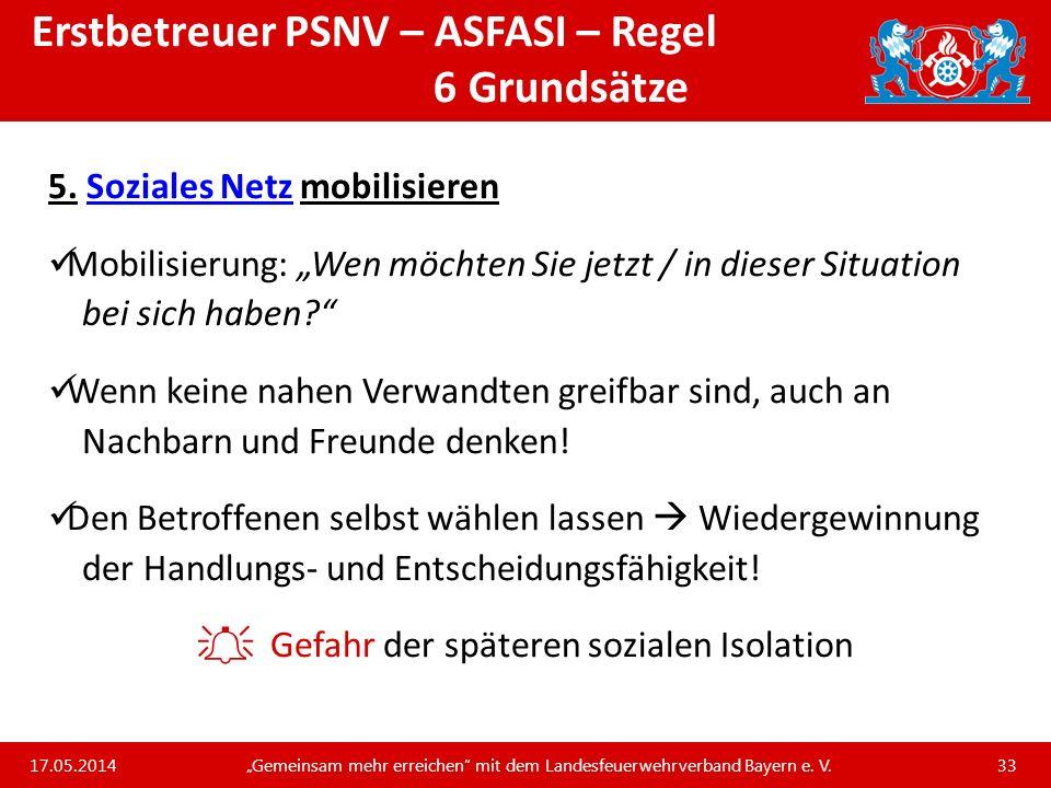 Erstbetreuer PSNV – ASFASI – Regel 6 Grundsätze