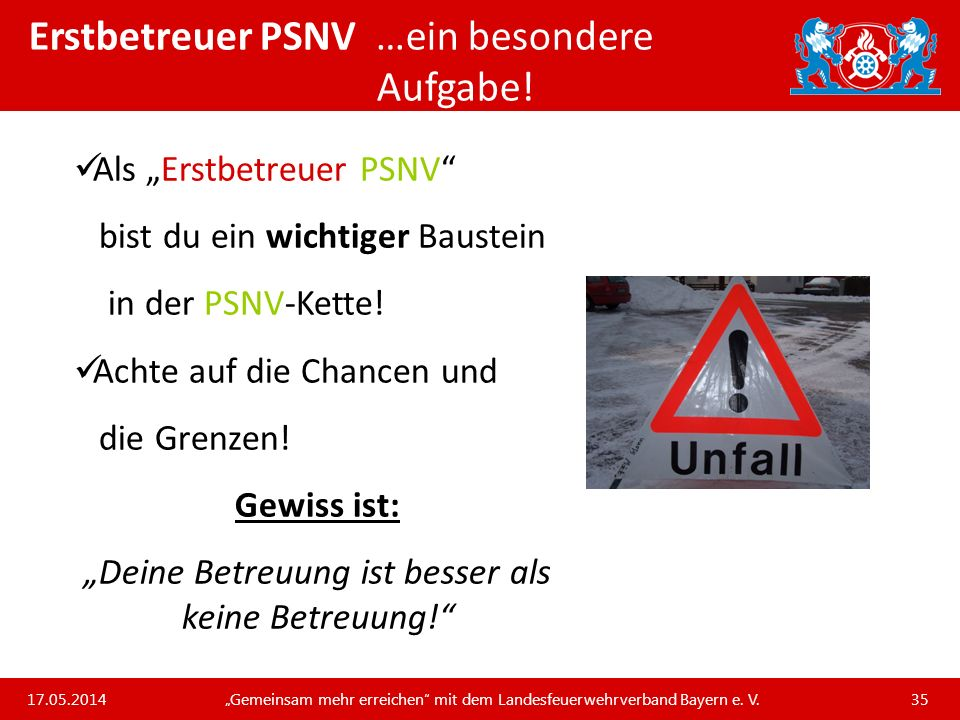 Erstbetreuer PSNV …ein besondere Aufgabe!