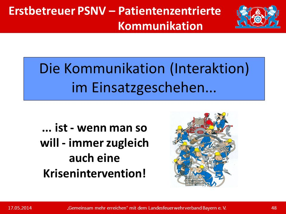 Erstbetreuer PSNV – Patientenzentrierte Kommunikation
