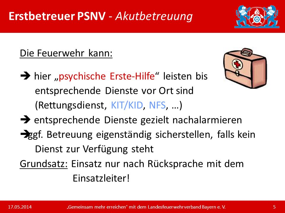 Erstbetreuer PSNV - Akutbetreuung
