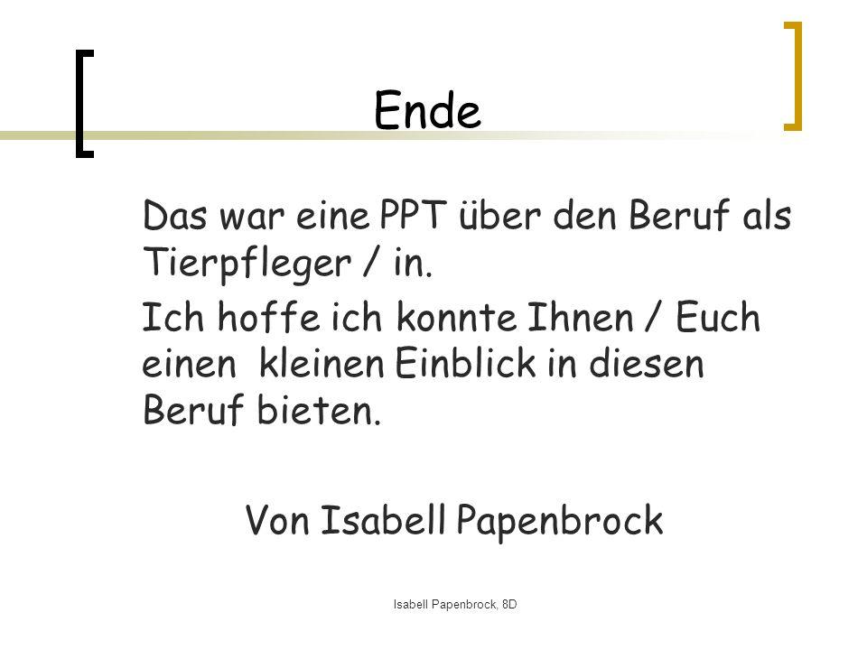 Von Isabell Papenbrock