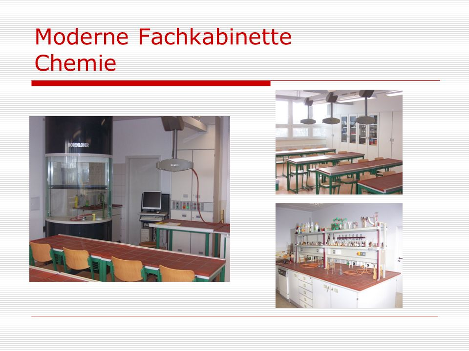 Moderne Fachkabinette Chemie