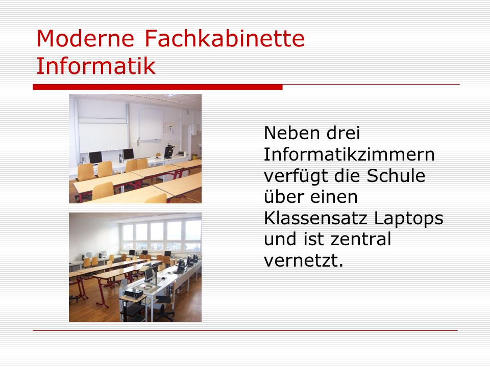 Moderne Fachkabinette Informatik