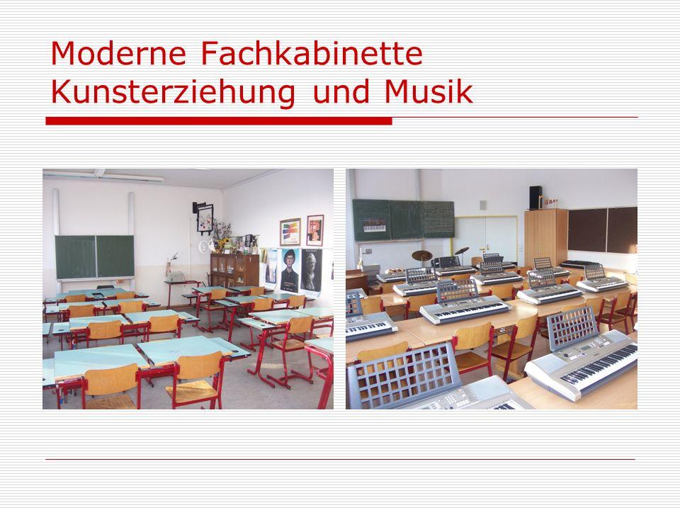 Moderne Fachkabinette Kunsterziehung und Musik