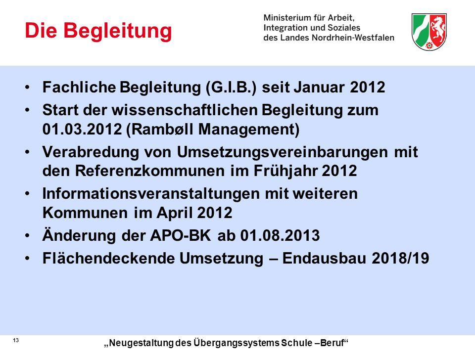 Die Begleitung Fachliche Begleitung (G.I.B.) seit Januar 2012