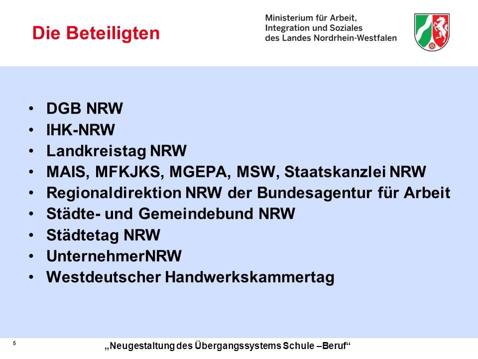 Die Beteiligten DGB NRW IHK-NRW Landkreistag NRW