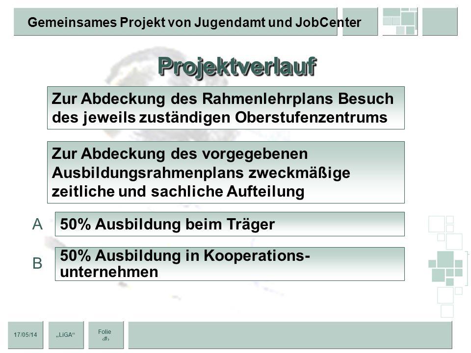 Projektverlauf Zur Abdeckung des Rahmenlehrplans Besuch des jeweils zuständigen Oberstufenzentrums.