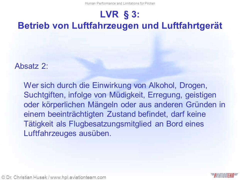 LVR § 3: Betrieb von Luftfahrzeugen und Luftfahrtgerät