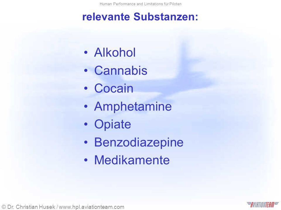 relevante Substanzen: