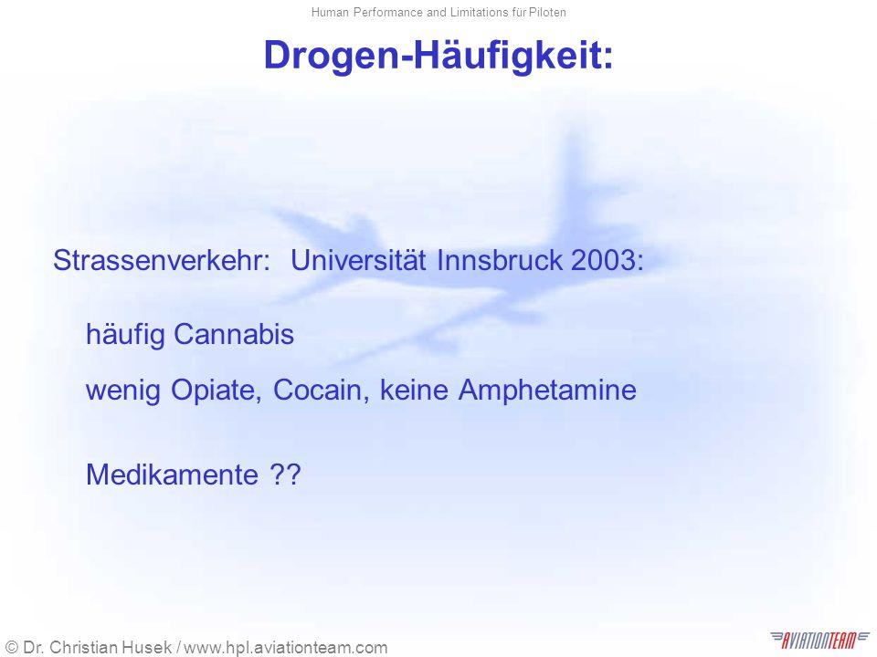 Drogen-Häufigkeit: Strassenverkehr: Universität Innsbruck 2003: