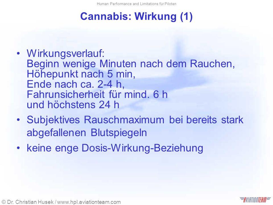 Cannabis: Wirkung (1)