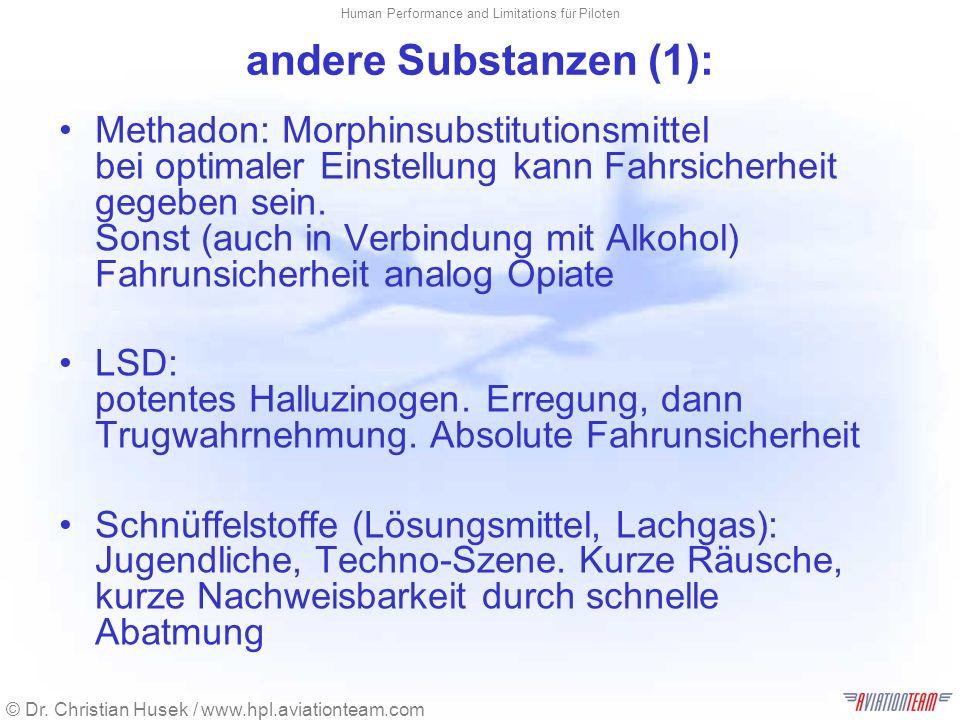 andere Substanzen (1):