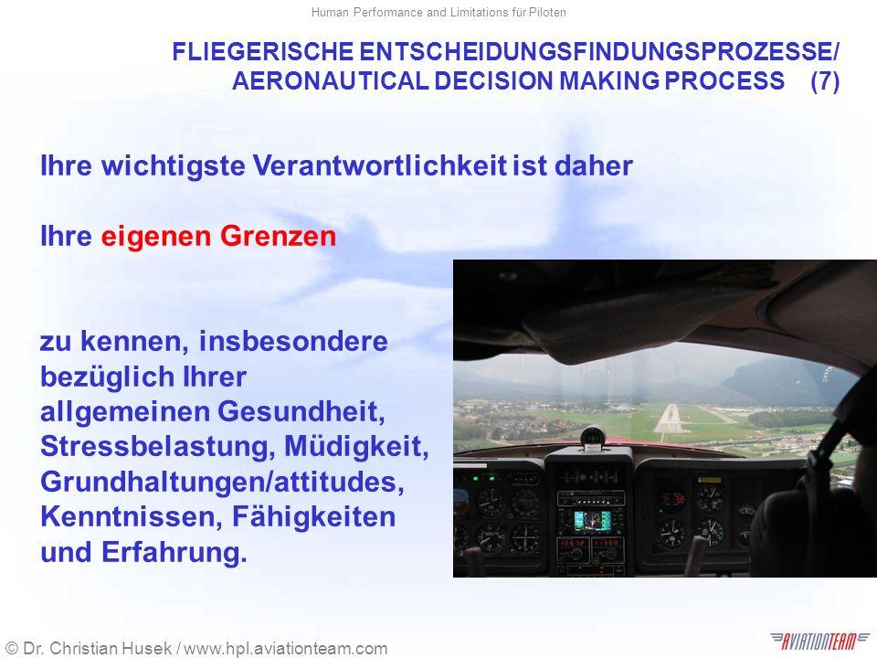 FLIEGERISCHE ENTSCHEIDUNGSFINDUNGSPROZESSE/ AERONAUTICAL DECISION MAKING PROCESS (7)
