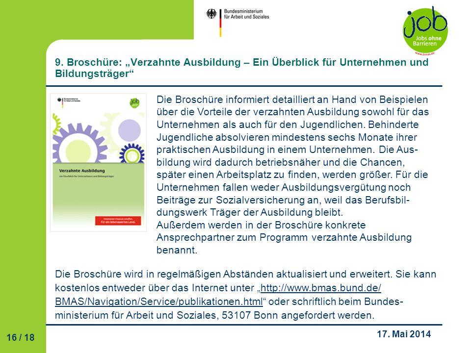 """9. Broschüre: """"Verzahnte Ausbildung – Ein Überblick für Unternehmen und Bildungsträger"""