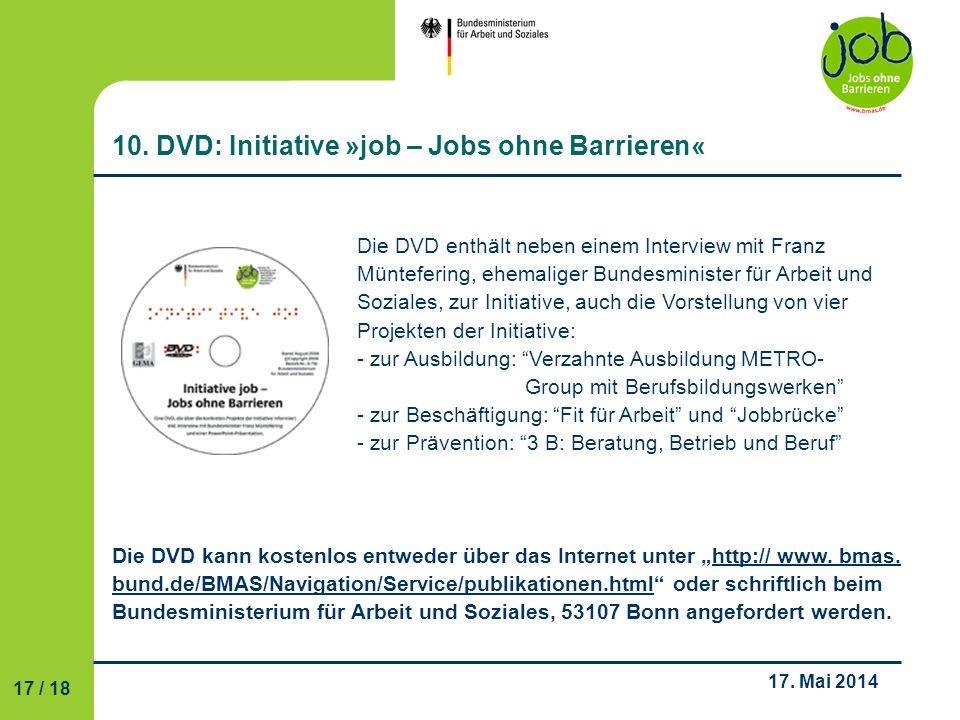 10. DVD: Initiative »job – Jobs ohne Barrieren«