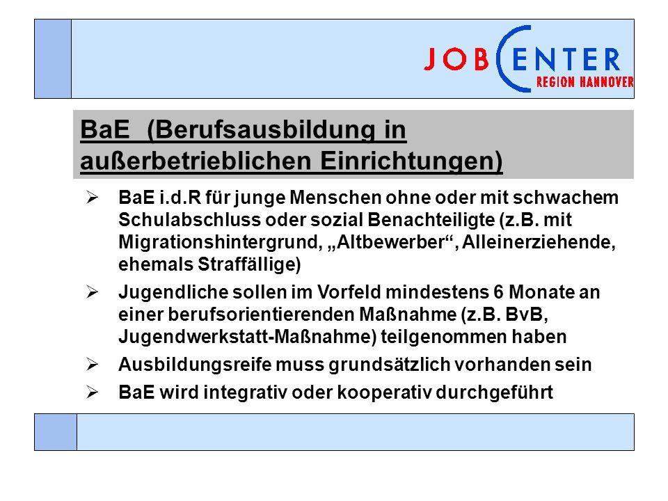 BaE (Berufsausbildung in außerbetrieblichen Einrichtungen)